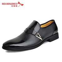 Male business formal popular men's casual fashion pointed toe shoes groom the first layer of leather shoes male