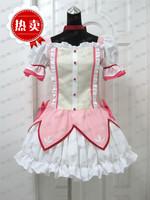 Puella Magi Madoka Magica Kaname Madoka Cosplay Costume Short Ball Dress With Bowknots Cos