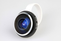 New Arrivals 235 degree Clip Fish eye lens for iPhone 4 5 Samsung Galaxy S3 S4 Note2 NOKIA 920 HTC ONE,1 pcs/lot