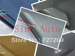Realistic Brushed Aluminum Vehicle Wrap Vinyl Sheet 1.52 x 30m/Roll Five Colors option(China (Mainland))