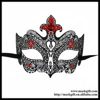 48pcs/lot MB005-RBK Wholesale Luxury Venetian Metallic Filigree Laser Cut Masquerade Ball Mask - Giglio Free Shipping