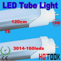 G13 T8 Tube Light 18W 3014smd 1200mm 120CM 3014 160LED Tube Lamp 1550LM 85V~265V CE RoHS  x 10 PCS -- ship via express