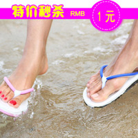 2013 summer flip flops lovers flat heel sandals slip-resistant stuffies male Women sandals