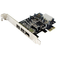 Combo 2x 1394b + 1x 1394a Firewire Ports PCI-Express Controller Card, TI Chipset,Support Low Profile Bracket
