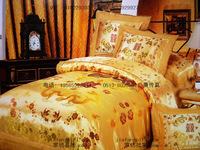 FREE SHIPPING Wedding bedding silk woven damask silks and satins piece bedding set dagor bragollach -