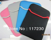 "Soft Protect Cloth Bag Pouch Cover Case for 7"" Tablet PC MID Notebook Black Color,Free Shipping+Drop Shipping Wholesale"