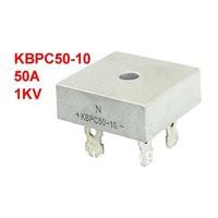 KBPC50-10 1KV 50A Single Phase Bridge Rectifier Half-Wave Silver Tone