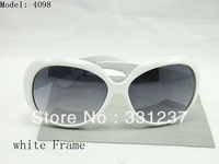 Free Shipping 4098 Unisex white Frame sunglasses come with Box