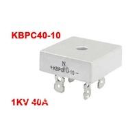 KBPC40-10 1KV 40A Single Phase Bridge Rectifier Half-Wave Silver Tone