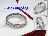 Free Shipping Brand Designer Ring Crystal Jewelry 3-Colors 1:1 Top Quality Package(Card,Original Box,Gift Box) #CTR36-Silver
