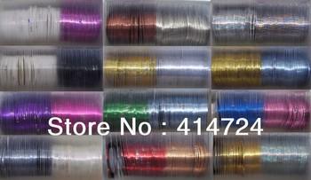 nail foil Wrap Striping Tape Line Nail Art Decoration DIY Sticker 100rolls/lot
