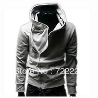 2013 autumn and winter sweatshirt male fashion fleece thickening male oblique zipper sweatshirt