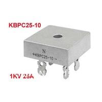 1KV 25A Single Phase Diode Bridge Rectifier Silver Tone KBPC25-10 for PCB