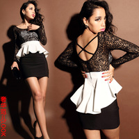 Fashion sexy one-piece dress slim hip tight fitting women's skirt slim dress 2013 summer