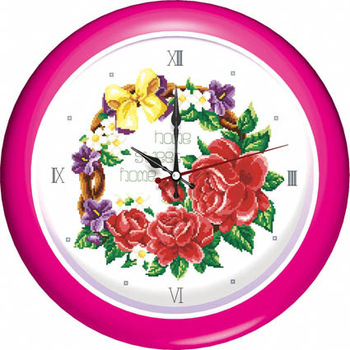 Stella free shipping Cross stitch kit clock tc1028 rose