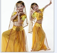 Child dance costume clothes belly dance indian dance chinese minority clothing