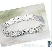 Min. Order is $10 ( Can Mix order ) ! Accessories silver glossy bear ring bracelet sl149