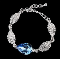 Min. Order is $10 ( Can Mix order ) ! Accessories birthday gift natural blue crystal bracelet female sl0030