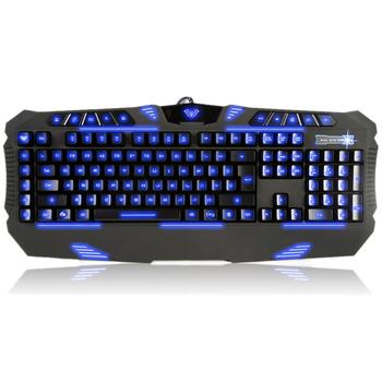 Backlit keyboard Tarantula beads self definition three-color backlit keyboard gaming keyboard wired usb laptop keyboard