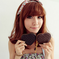 2013 small purse A571b 2013 knitted Women peach heart small coin purse coin case  free shipping