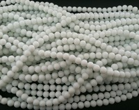 HOT DIY 10mm natural white agate immitation stone smooth Round loose Beads 320pcs/lot fit bracelet necklace  Free Shipping