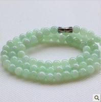 Myanmar jadeite jade A goods jade jade necklaces for women 6 mm round bead necklace