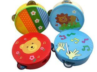5-29 Hand drum burped baby drum tambourine orff instruments child music puzzle baby music drum toy Free Shipping