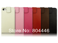 free shipping mobile housing for Apple iphone4 leather case cowskin 2013 hotsale high quality cases for phone 4