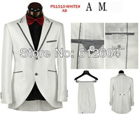 2013 new stylish white Bridegroom suits brand wedding dress suits for men Single-breasted High-end two pieces set