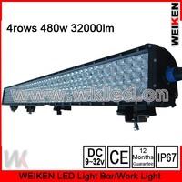 high power 42'' 480W 32000lm waterproof offroad atv utv suv  truck jeep driving light bar