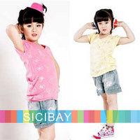 Children Shorts Kids Shorts Girls Summer Jeans Kids Flower Shorts Fashion Pants,Casual Wear,Free Shipping  K0878