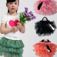 4 pcs/lot 2013 Fashion Children Kids Clothing girls tutu skirt bow design princess wear AA5759