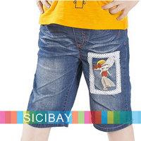 Girl Fashion Summer Shorts Kids Summer Pants for Girl Summer Wear Little Girl Half Pants Cartoon Jeans,Free Shipping  K0879