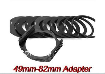 49mm-82mm Ring Adapter 52mm 55mm 58mm 62mm 67mm 72mm 77mm 82mm + Filter Holder Cokin P series