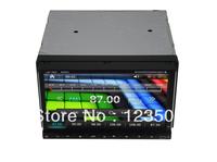 Slip panel Double 2din 7'' Car pc+ wifi adapter +GPS+AM/FM +Ipod+Analog TV +Wheel control+Map