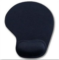 Free shipping, 1pcs Black Mouse Pad Mat With Wrist Rest for Optical Mouse. Faint Fragrance, EA055