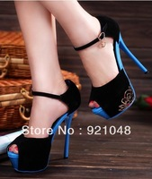 Free shipping Platform high heels shoes flower sandals open toe shoe sexy shoes for woman 2013