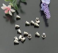 metal earring studs, nickel plating, iron material,6*5mm, 2000pcs/bag,MOA USD50 each order