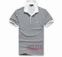 1 piece free shipping Man Apparel Summer Striola Short-sleeve  Simple Style Casual tshirt Cotton Turn-down Collar Top Tee