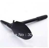 Free shipping Stainless steel multifunction can be folded spade Practical outdoor camping tools