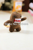 "Cute Domo Kun Plush Doll Toy Keychain 3.5"" kids phone keychain 50pcs/lot free shipping"