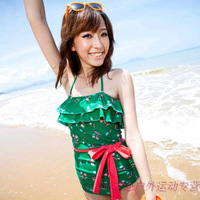 2013 one piece swimwear female quality vintage