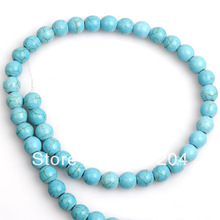 Wholesale 8mm Blue Round Nature Turquoise Jewelry Bead High Quality Fit Shamballa Bracelet Neklace 385pcs/lot Free Shipping(China (Mainland))