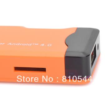 A22 Android 4.0 1GB DDR3 4G ROM Mini PC w/ Wi-Fi / TF / HDMI - Orange + Black (4GB)