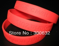 factory directly wholesale cheap Custom Silicone Wrist band with debossed logo