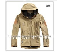 free shipping 2013 men coat jacket TAD sharkskin stalker soft shell V4.0 fashion outdoor waterproof warm men's charge clothes