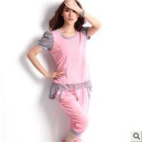2013 casual set female summer sportswear short-sleeve capris sports set Women sweatshirt