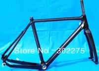 Full Carbon 3K Cyclocross cross Bike disc brake Frame BSA + Fork   SIZE: 51cm, 53cm, 55cm, 57cm