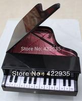 High Quality Elegant Classical Piano Shape Black New Cord Phone Home Desk Telephone Free Shipping