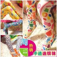 Free shipping 2013 summer girls Europe and America Retro thin velvet  Children's render pantyhose